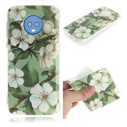 Watercolor Flower IMD Soft TPU Cell Phone Back Cover for Motorola Moto G6