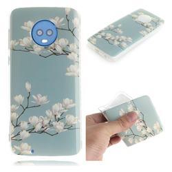 Magnolia Flower IMD Soft TPU Cell Phone Back Cover for Motorola Moto G6