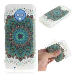 Peacock Mandala IMD Soft TPU Cell Phone Back Cover for Motorola Moto G6