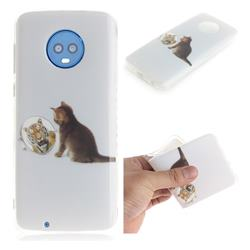 Cat and Tiger IMD Soft TPU Cell Phone Back Cover for Motorola Moto G6