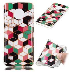 Three-dimensional Square Soft TPU Marble Pattern Phone Case for Motorola Moto G6