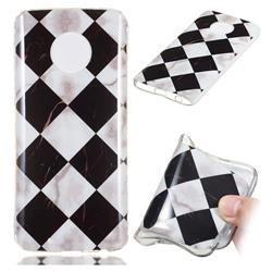 Black and White Matching Soft TPU Marble Pattern Phone Case for Motorola Moto G6