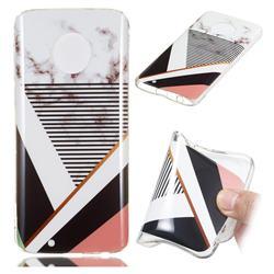 Pinstripe Soft TPU Marble Pattern Phone Case for Motorola Moto G6