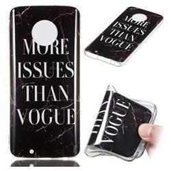 Stylish Black Soft TPU Marble Pattern Phone Case for Motorola Moto G6