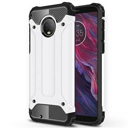 King Kong Armor Premium Shockproof Dual Layer Rugged Hard Cover for Motorola Moto G6 - White