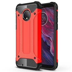 King Kong Armor Premium Shockproof Dual Layer Rugged Hard Cover for Motorola Moto G6 - Big Red
