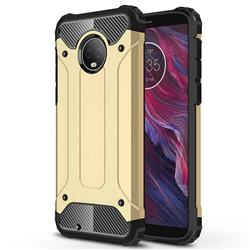 King Kong Armor Premium Shockproof Dual Layer Rugged Hard Cover for Motorola Moto G6 - Champagne Gold