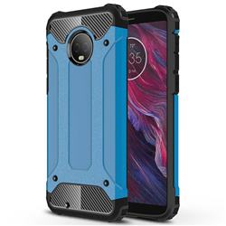 King Kong Armor Premium Shockproof Dual Layer Rugged Hard Cover for Motorola Moto G6 - Sky Blue