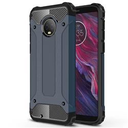 King Kong Armor Premium Shockproof Dual Layer Rugged Hard Cover for Motorola Moto G6 - Navy