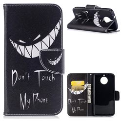 Crooked Grin Leather Wallet Case for Motorola Moto G6