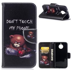 Chainsaw Bear Leather Wallet Case for Motorola Moto G6