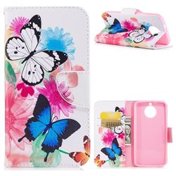 Vivid Flying Butterflies Leather Wallet Case for Motorola Moto G6
