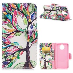 The Tree of Life Leather Wallet Case for Motorola Moto G6