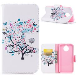 Colorful Tree Leather Wallet Case for Motorola Moto G6