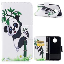 Bamboo Panda Leather Wallet Case for Motorola Moto G6