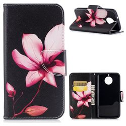 Lotus Flower Leather Wallet Case for Motorola Moto G6