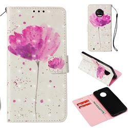 Watercolor 3D Painted Leather Wallet Case for Motorola Moto G6