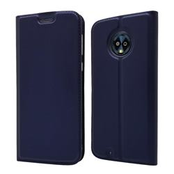 Ultra Slim Card Magnetic Automatic Suction Leather Wallet Case for Motorola Moto G6 - Royal Blue