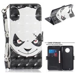 Angry Bear 3D Painted Leather Wallet Phone Case for Motorola Moto G6
