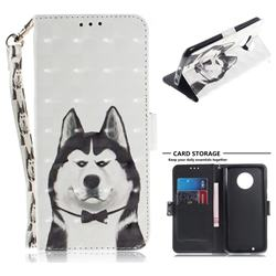 Husky Dog 3D Painted Leather Wallet Phone Case for Motorola Moto G6