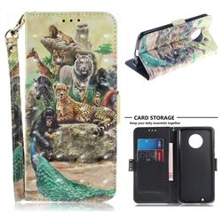 Beast Zoo 3D Painted Leather Wallet Phone Case for Motorola Moto G6