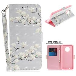 Magnolia Flower 3D Painted Leather Wallet Phone Case for Motorola Moto G6
