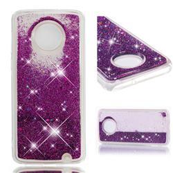Dynamic Liquid Glitter Quicksand Sequins TPU Phone Case for Motorola Moto G6 Plus G6Plus - Purple