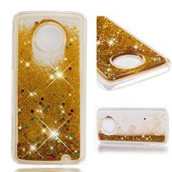 Dynamic Liquid Glitter Quicksand Sequins TPU Phone Case for Motorola Moto G6 Plus G6Plus - Golden
