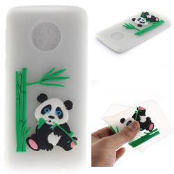 Panda Eating Bamboo Soft 3D Silicone Case for Motorola Moto G6 Plus G6Plus - Translucent