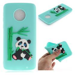 Panda Eating Bamboo Soft 3D Silicone Case for Motorola Moto G6 Plus G6Plus - Green