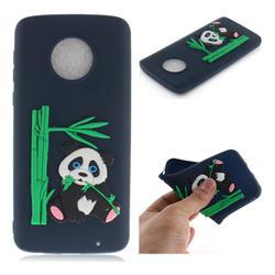 Panda Eating Bamboo Soft 3D Silicone Case for Motorola Moto G6 Plus G6Plus - Dark Blue