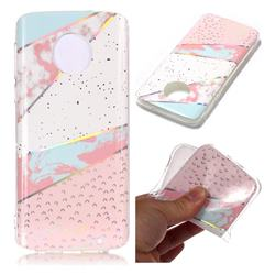 Matching Color Marble Pattern Bright Color Laser Soft TPU Case for Motorola Moto G6 Plus G6Plus