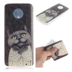 Cat Embrace IMD Soft TPU Cell Phone Back Cover for Motorola Moto G6 Plus G6Plus
