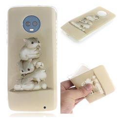Three Squirrels IMD Soft TPU Cell Phone Back Cover for Motorola Moto G6 Plus G6Plus
