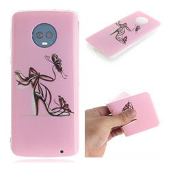 Butterfly High Heels IMD Soft TPU Cell Phone Back Cover for Motorola Moto G6 Plus G6Plus