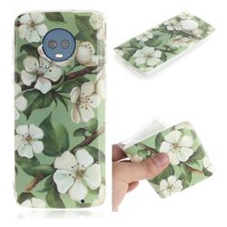 Watercolor Flower IMD Soft TPU Cell Phone Back Cover for Motorola Moto G6 Plus G6Plus