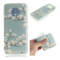 Magnolia Flower IMD Soft TPU Cell Phone Back Cover for Motorola Moto G6 Plus G6Plus
