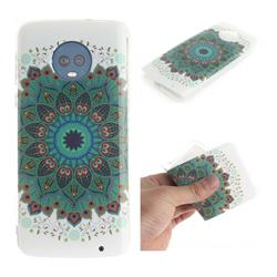 Peacock Mandala IMD Soft TPU Cell Phone Back Cover for Motorola Moto G6 Plus G6Plus