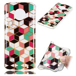 Three-dimensional Square Soft TPU Marble Pattern Phone Case for Motorola Moto G6 Plus G6Plus