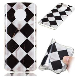 Black and White Matching Soft TPU Marble Pattern Phone Case for Motorola Moto G6 Plus G6Plus