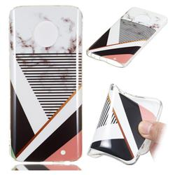 Pinstripe Soft TPU Marble Pattern Phone Case for Motorola Moto G6 Plus G6Plus