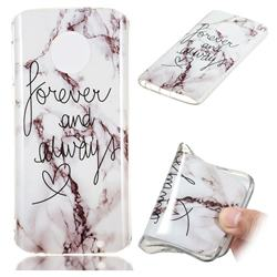 Forever Soft TPU Marble Pattern Phone Case for Motorola Moto G6 Plus G6Plus