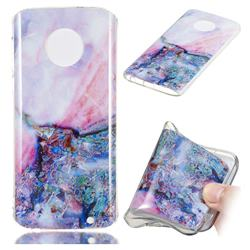 Purple Amber Soft TPU Marble Pattern Phone Case for Motorola Moto G6 Plus G6Plus