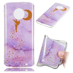 Elf Purple Soft TPU Marble Pattern Phone Case for Motorola Moto G6 Plus G6Plus