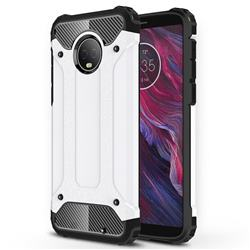 King Kong Armor Premium Shockproof Dual Layer Rugged Hard Cover for Motorola Moto G6 Plus G6Plus - White