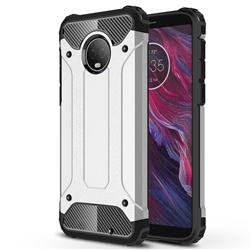 King Kong Armor Premium Shockproof Dual Layer Rugged Hard Cover for Motorola Moto G6 Plus G6Plus - Technology Silver