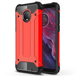 King Kong Armor Premium Shockproof Dual Layer Rugged Hard Cover for Motorola Moto G6 Plus G6Plus - Big Red