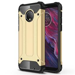 King Kong Armor Premium Shockproof Dual Layer Rugged Hard Cover for Motorola Moto G6 Plus G6Plus - Champagne Gold