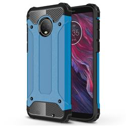 King Kong Armor Premium Shockproof Dual Layer Rugged Hard Cover for Motorola Moto G6 Plus G6Plus - Sky Blue