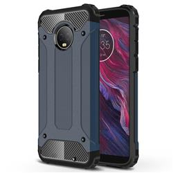 King Kong Armor Premium Shockproof Dual Layer Rugged Hard Cover for Motorola Moto G6 Plus G6Plus - Navy